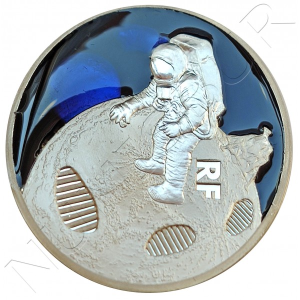 10€ FRANCE 2019 - First Step on the Moon