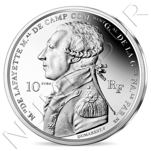 10€ FRANCE 2020 - La Fayette arrives in Boston