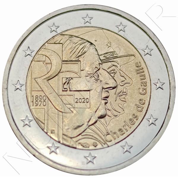 2€ FRANCE 2020 - Charles de Gaulle