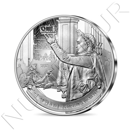 10€ FRANCE 2021 - The Coronation of Napoleon I - Louvre