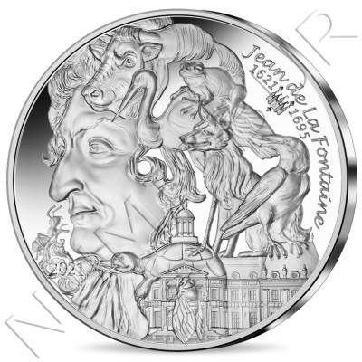 10€ FRANCE 2021 - 400th anniversary of his birth Jean de la Fontaine