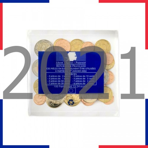 Tira FRANCE 2021 - 8 coins euro (BAG)