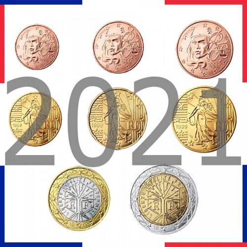 Tira FRANCE 2021 - 8 coins euro