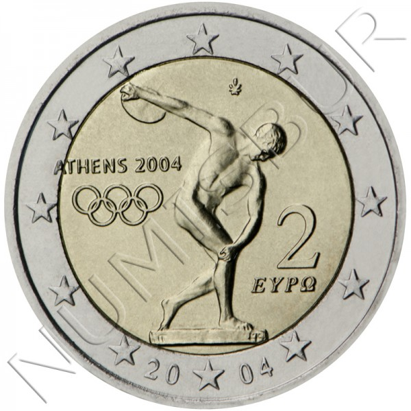 2€ GREECE 2004 - Olympics Games Athens