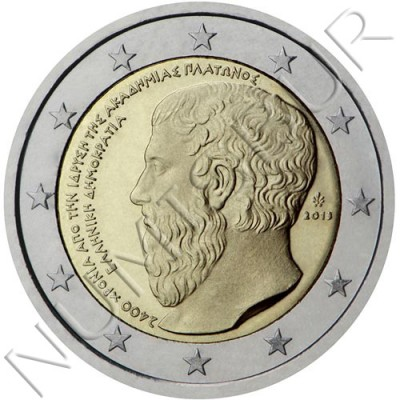 2€ GREECE 2013 - 2400º Aniv. Foundation of the Platonic Academy
