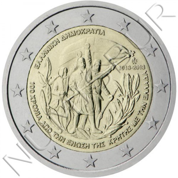 2€ GREECE 2013 - 100 Years of Crete's Accession to Greece