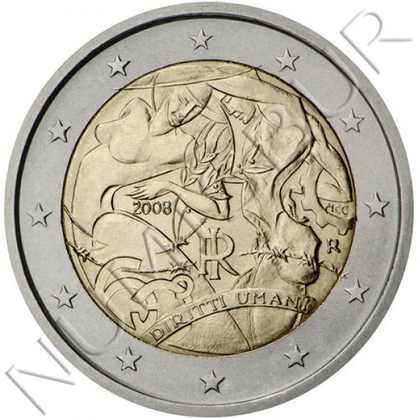 2€ ITALY 2008 - 60 anniv Human Rights