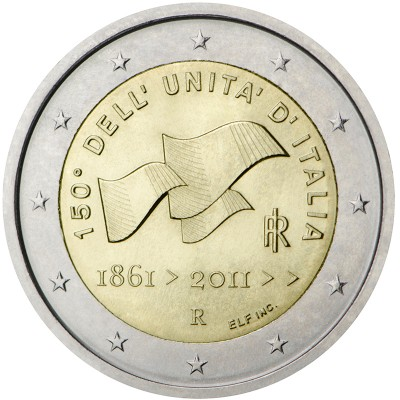 2€ ITALIA 2011 - Unificación de Italia