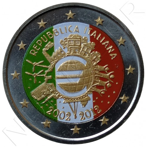 2€ ITALIA 2012 - 10º aniv. EURO (COLOR)
