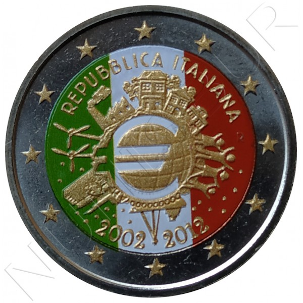 2€ ITALIA 2012 - 10º aniv. EURO (COLOR)
