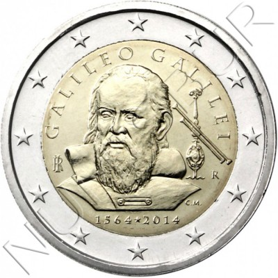 2€ ITALIA 2014 - Galilleo Galilei