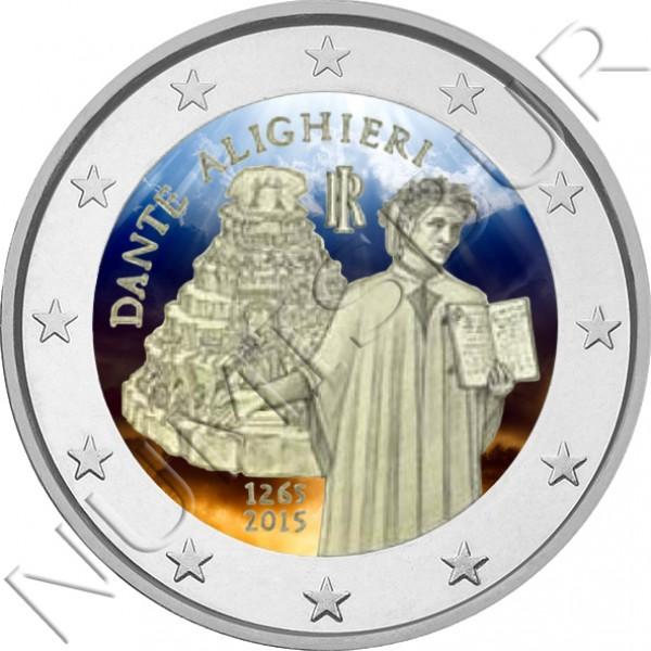 2€ ITALIA 2015 - Dante Alighieri (COLOR)