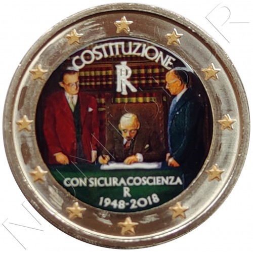 2€ ITALY 2018 - Italian Constitution (COLOR)