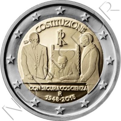 2€ ITALY 2018 - Italian Constitution