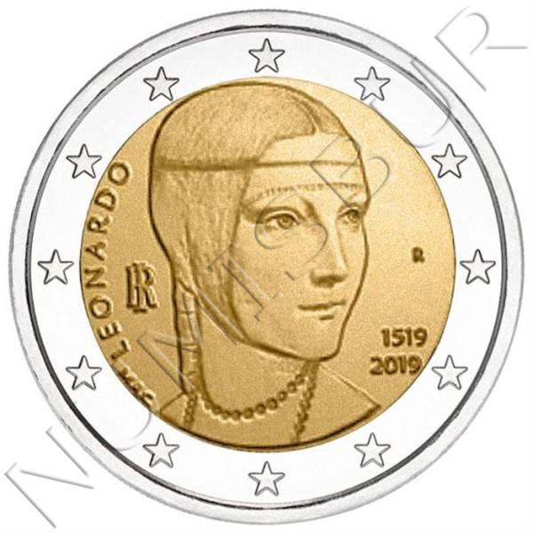 2€ ITALY 2019 - Leonardo da Vinci