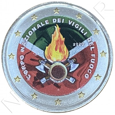 2€ ITALY 2020 - National Fire Department (COLORED)