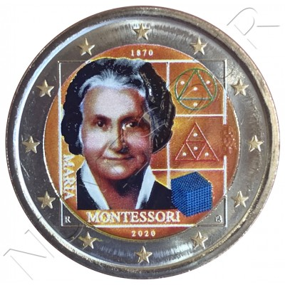 2€ ITALY 2020 - Maria Montesori (COLORED)
