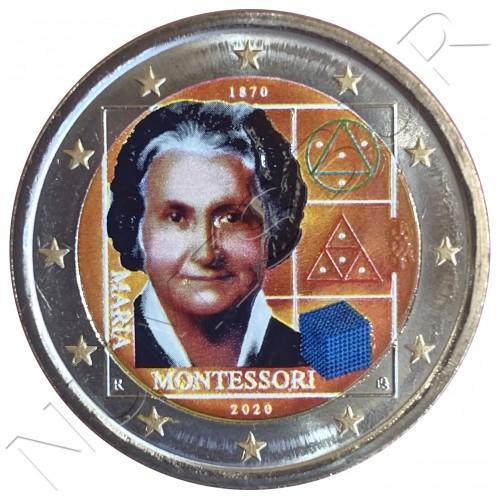2€ ITALY 2020 - Maria Montesori (COLORED)