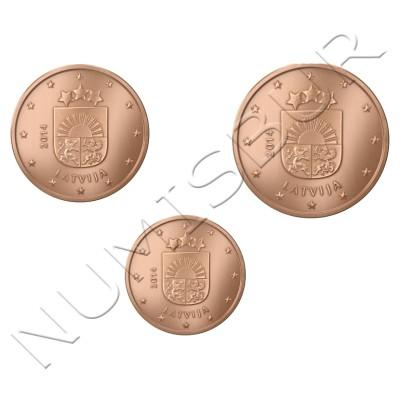 1, 2 y 5 centimos LETONIA 2014 - S/C