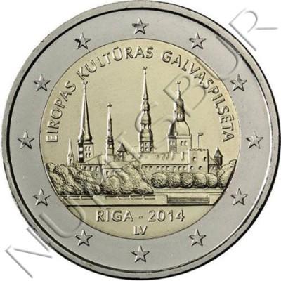 2€ LETONIA 2014 - Ciudad de Riga