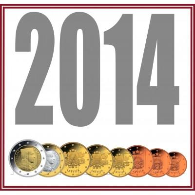Tira LETONIA 2014 - 8 valores