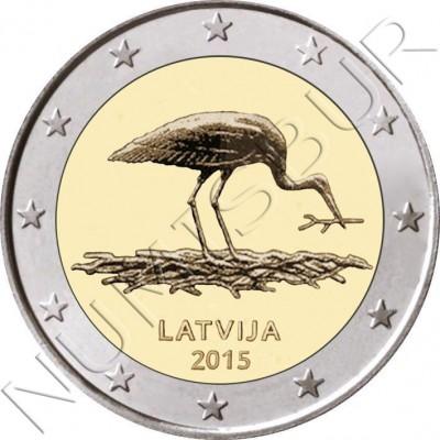2€ LETONIA 2015 - Cigueña