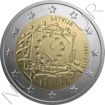 2€ LETONIA 2015 - XXX aniv. de la bandera Europa