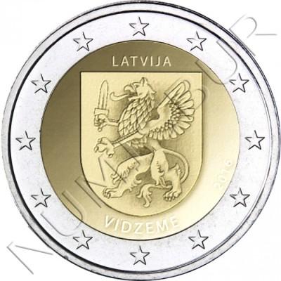 2€ LETONIA 2016 - Region Vidzeme