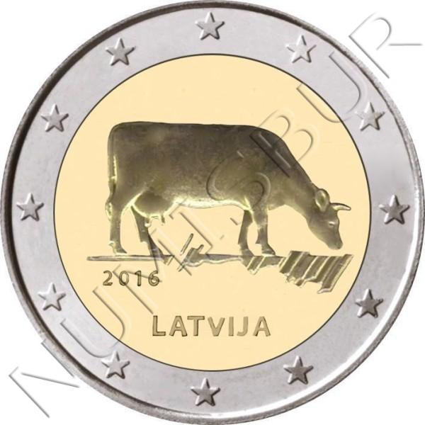 "2€ LETONIA 2016 - Sector agrario ""VACA"""