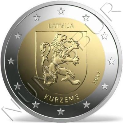 2€ LETONIA 2017 - Region Kurzeme