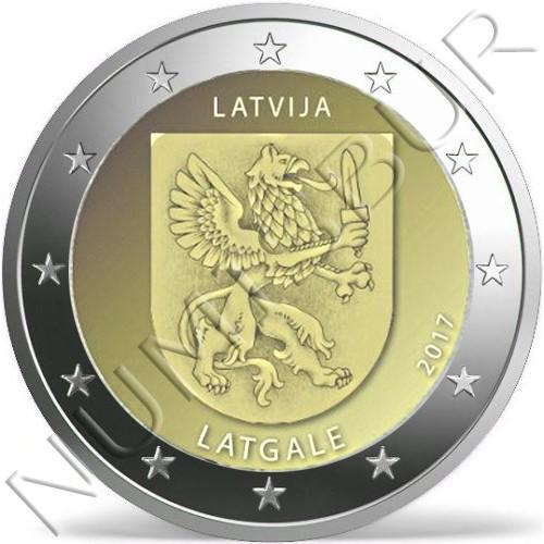 2€ LETONIA 2017 - Region Latgale