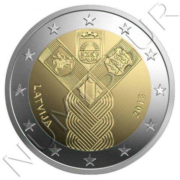 2€ LETONIA 2018 - Centenario fundación Paises Balticos
