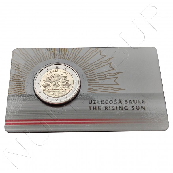 2€ LATVIA 2019 - The rising sun  COIN CARD