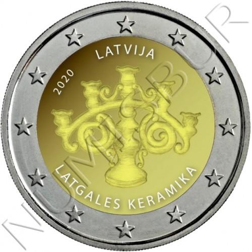 2€ LETONIA 2020 - Ceramicas Latgalian (PROOF)