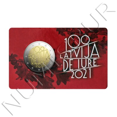 2€ LETONIA 2021 - The Latvia de iure 100