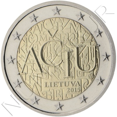 2€ LITHUANIA 2015 - Lithuanian lenguage