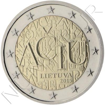 2€ LITUANIA 2015 - Idioma lituano