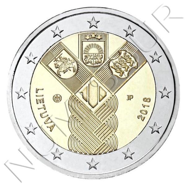 2€ LITUANIA 2018 - Centenario fundación Paises Balticos