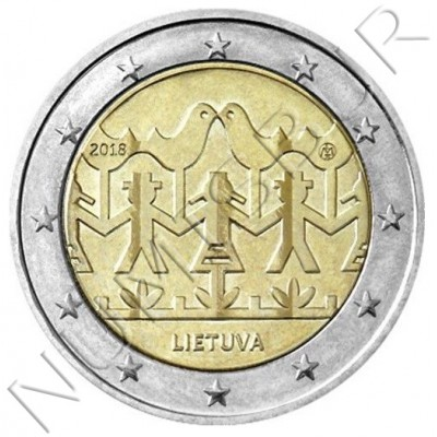 2€ LITHUANIA 2018 - Festival of song and dance