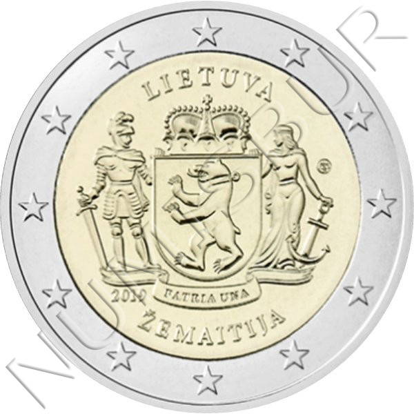2€ LITHUANIA 2019 - Region Zemaitija