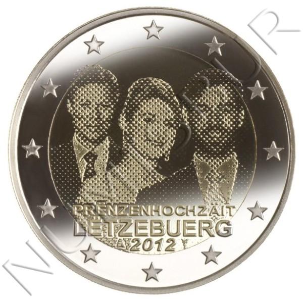 2€ LUXEMBURGO 2012 - Boda real