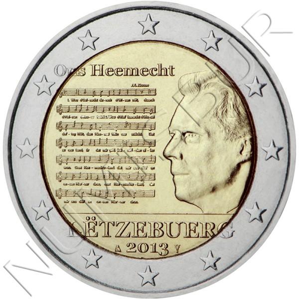 2€ LUXEMBURGO 2013 - Himno nacional
