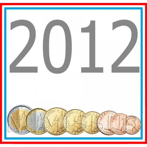 Tira LUXEMBURG 2012 - 8 coins