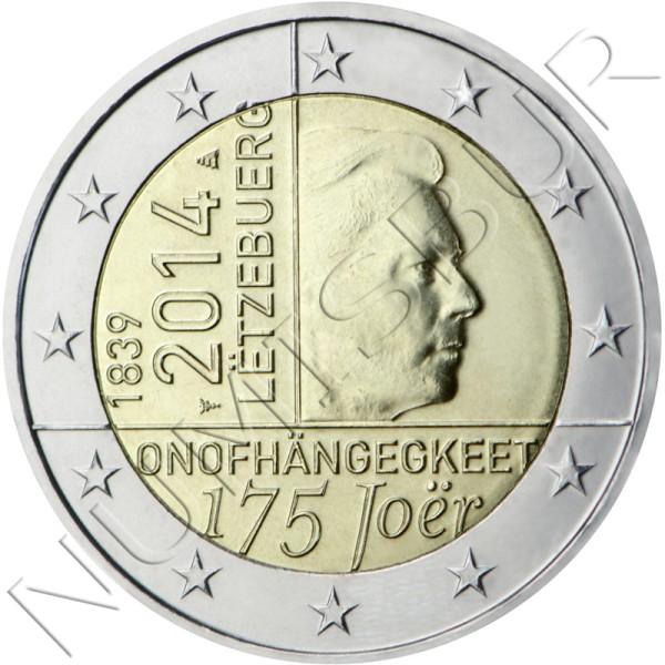 2€ LUXEMBURGO 2014 - 175 años de la Independencia
