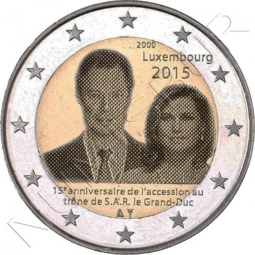 2€ LUXEMBURG 2015 - 15 years ascension to the Throne