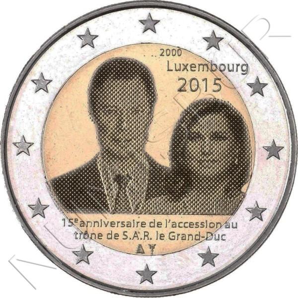 2€ LUXEMBURGO 2015 - 15 años ascensión al Trono