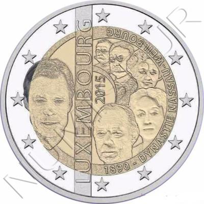 2€ LUXEMBURGO 2015 - Dinastia Nassau