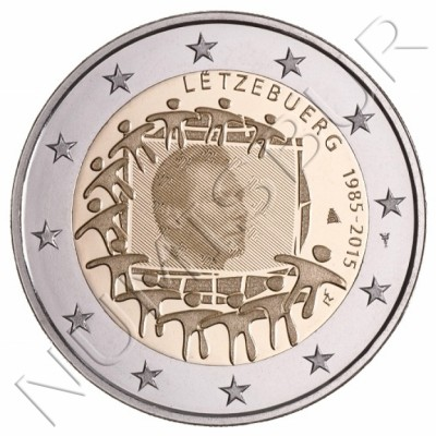 2€ LUXEMBURGO 2015 - XXX aniv. de la bandera Europa