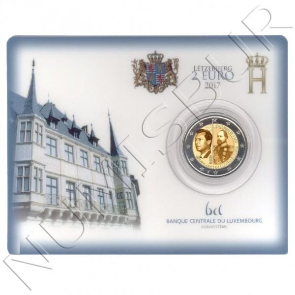 2€ LUXEMBURGO 2017 - 200 aniv. nacimiento Gran Duque Guillermo III BU