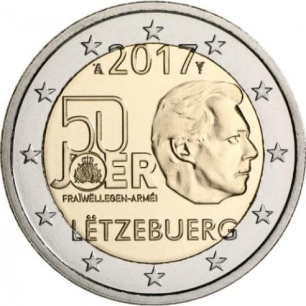 2€ LUXEMBURGO 2017 - Servicio militar